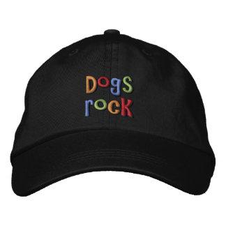Gorra de béisbol bordada roca de los perros