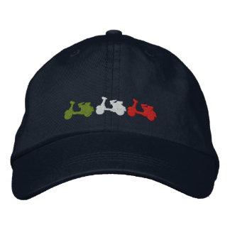 Gorra de béisbol bordada vespa italiana retra