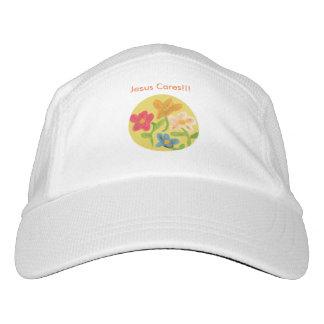 Gorra de béisbol cristiano de la flor de la gorra de alto rendimiento