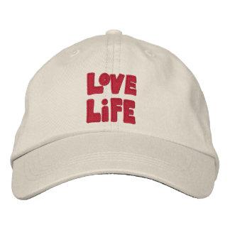 Gorra de béisbol de la vida del amor