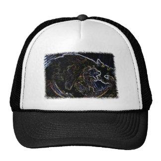 Gorra de béisbol de neón del gato persa