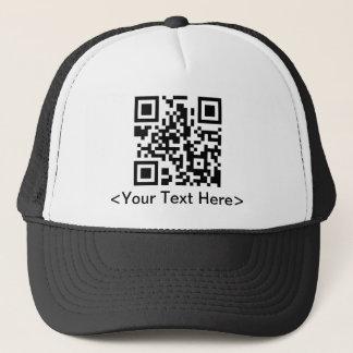 Gorra de béisbol del código de QR con el texto