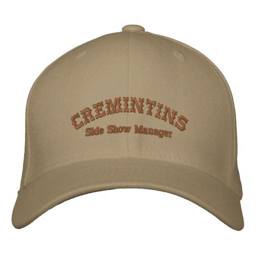 Gorra de béisbol del encargado del papel secundari
