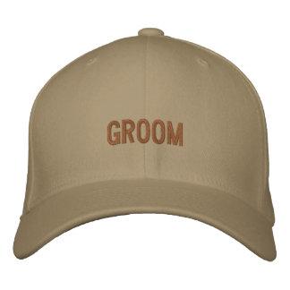 Gorra de béisbol del novio en de color caqui con