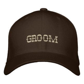 Gorra de béisbol del novio en marrón