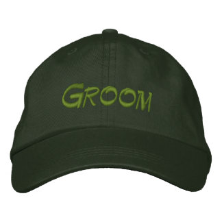 Gorra de béisbol del novio en verde/verde claro