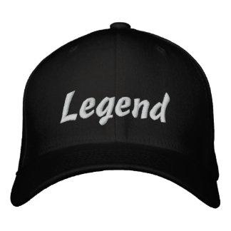 Gorra de béisbol negra de la leyenda