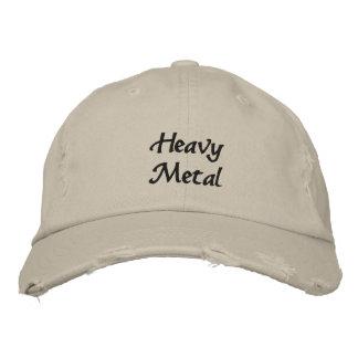 Gorra de béisbol oscura bordada metal pesado del