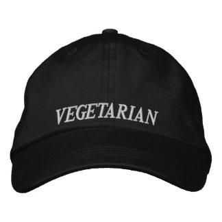 Gorra de béisbol vegetariana del bordado