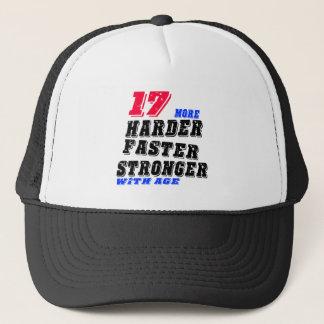 Gorra De Camionero 17 más fuertes más rápidos más duros con edad