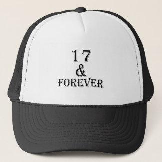 Gorra De Camionero 17 y para siempre diseños del cumpleaños