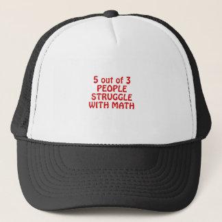 Gorra De Camionero 5 fuera de lucha de 3 personas con matemáticas