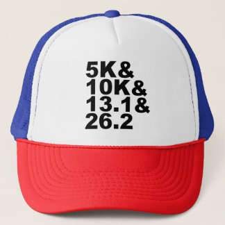 Gorra De Camionero 5K&10K&13.1&26.2 (negro)