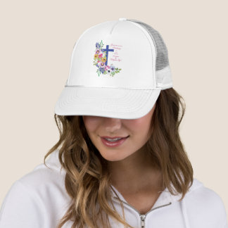 Gorra De Camionero 60.o Aniversario, monja, cruz religiosa de la vida