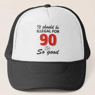 Gorra De Camionero 90.os diseños años divertidos del cumpleaños