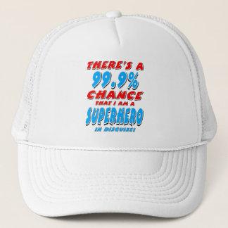 Gorra De Camionero 99,9% Soy un SUPER HÉROE (el negro)