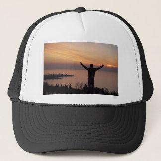 Gorra De Camionero Acantilado de la puesta del sol