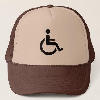 Gorra De Camionero Acceso de la silla de ruedas - símbolo de la silla