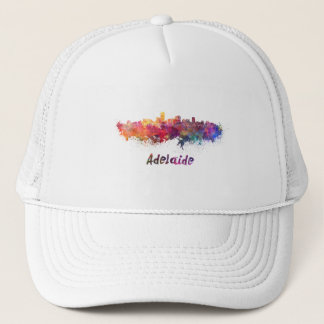 Gorra De Camionero Adelaide skyline in watercolor