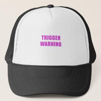 Gorra De Camionero Advertencia del disparador