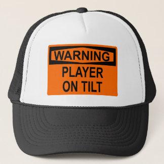 Gorra De Camionero Advertencia: Jugador en la inclinación