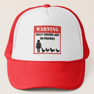 Gorra De Camionero Advertencia: Señora loca Trucker Hat del pollo