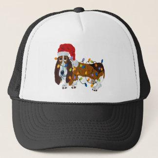 Gorra De Camionero Afloramiento enredado en luces de navidad