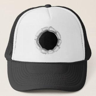 Gorra De Camionero Agujero o rasgón de bala a través del fondo