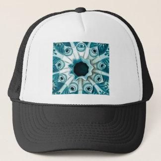 Gorra De Camionero agujero y ojos azules