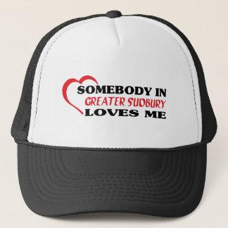 Gorra De Camionero Alguien en mayor Sudbury me ama
