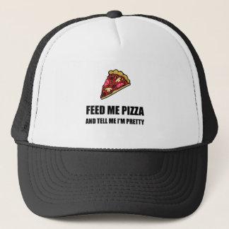 Gorra De Camionero Aliménteme el bonito de la pizza