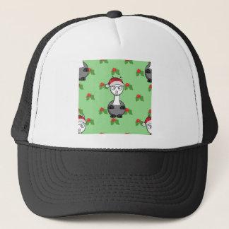 Gorra De Camionero alpaca de santa del navidad