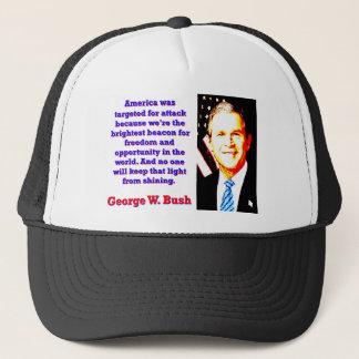 Gorra De Camionero América fue apuntada para el ataque - G W Bush