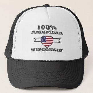 Gorra De Camionero Americano del 100%, Wisconsin