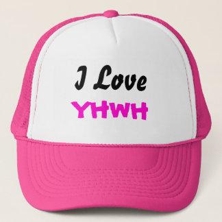 Gorra De Camionero Amo el casquillo de las señoras de YHWH