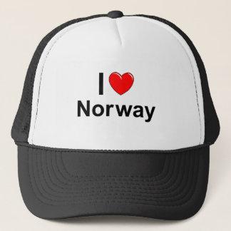 Gorra De Camionero Amo el corazón Noruega