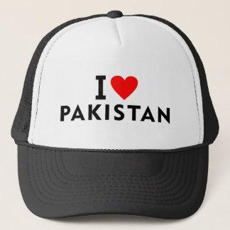 Gorra De Camionero Amo el país de Paquistán como el turismo del viaje