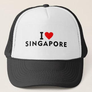 Gorra De Camionero Amo el país de Singapur como el turismo del viaje
