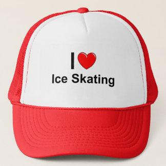 Gorra De Camionero Amo el patinaje de hielo del corazón