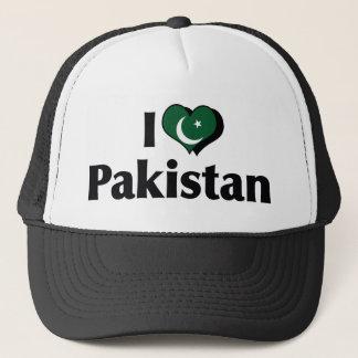 Gorra De Camionero Amo la bandera de Paquistán