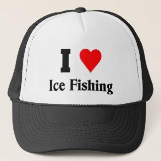 Gorra De Camionero Amo la pesca del hielo