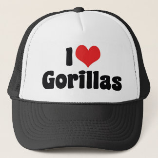 Gorra De Camionero Amo los gorilas del corazón - amante del gorila