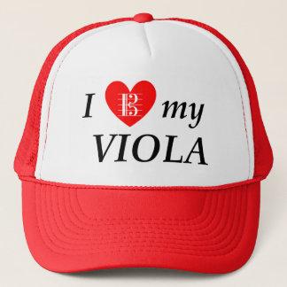 Gorra De Camionero Amo mi viola (corazón de I mi viola)
