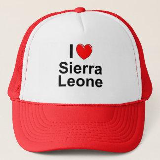Gorra De Camionero Amo Sierra Leone del corazón