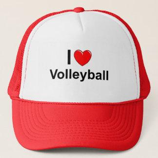 Gorra De Camionero Amo voleibol del corazón