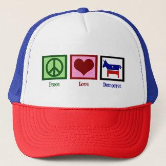 Gorra De Camionero Amor Demócrata de la paz