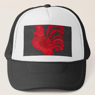 Gorra De Camionero Año del pollo del fuego rojo