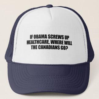 Gorra De Camionero Anti-Obama - si Obama estropea atención sanitaria