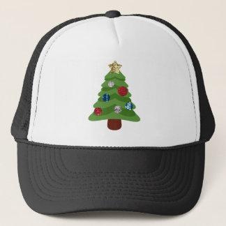 Gorra De Camionero árbol de navidad del emoji