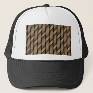 Gorra De Camionero Armadura de Brown de la materia textil de la cesta